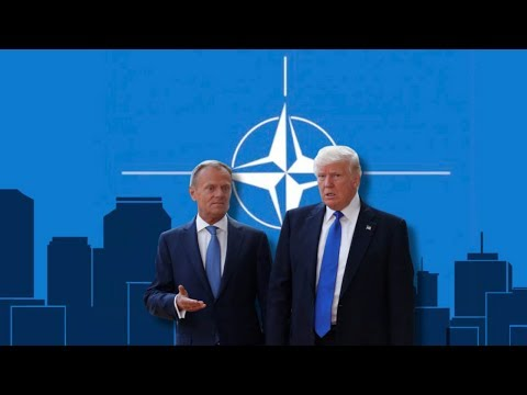 Trump at NATO summit in 'hellhole' Brussels