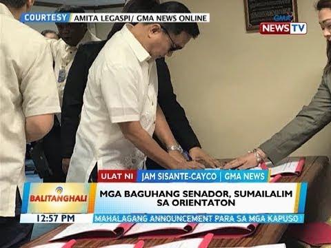 BT: Mga baguhang senador, sumailalim sa orientation