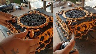 Уникальный дизайн, Резная деревянная шкатулка ручной работы, Резьба по дереву