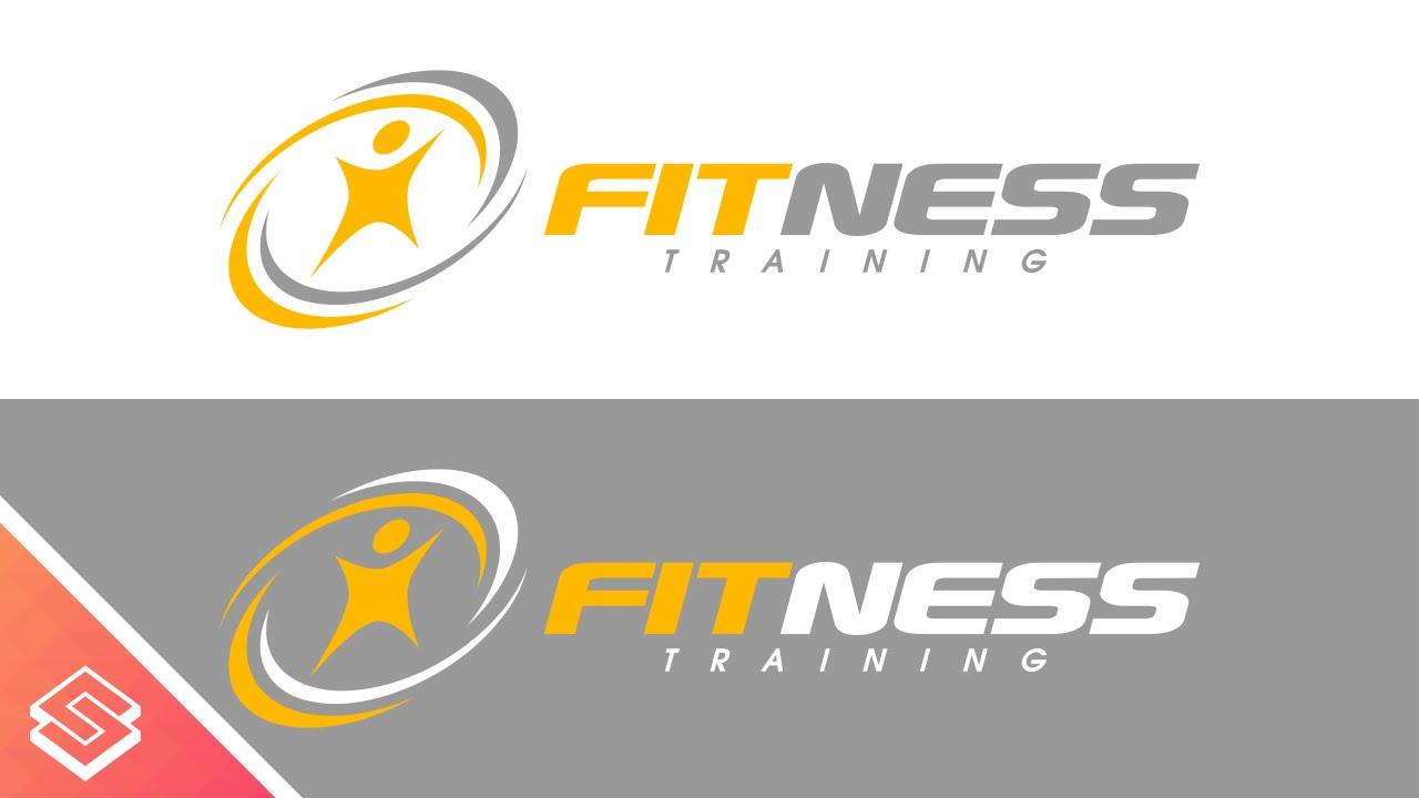 fitness logo  Inkscape Tutorial: Simple Fitness Logo - YouTube