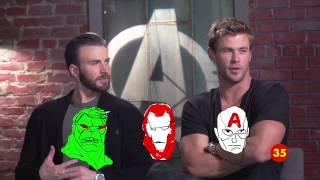 «Мстители: Эра Альтрона»: Актёры объясняют киновселенную Marvel за 60 секунд (с русскими субтитрами)