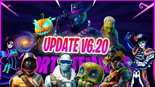 🎃NEW FORTNITE UPDATE (v6.20) *Halloween and ZOMBIES* + NEW SKINS🎃
