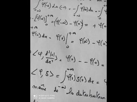 exercice corrigé sur les distributions la dérivée seconde de la valeur absolue de x vaut deux fois l