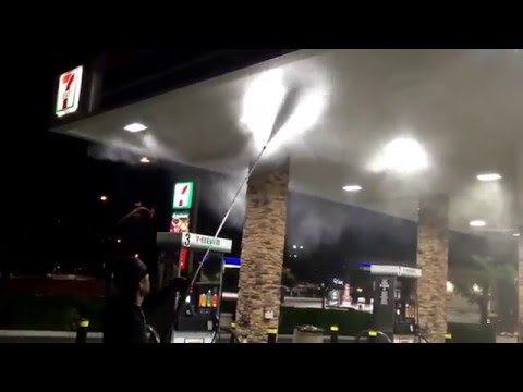 Hydro Pressure Washing Gas Station power wash !!