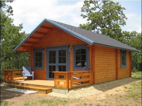 Small log cabin kits 3 rooms loft cozy home youtube for Small easy to build cabin plans