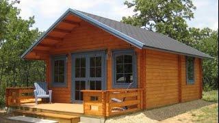 small log cabin kits   3 rooms loft cozy home