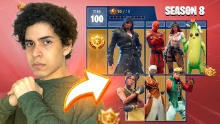 I BOUGHT the PIRATE BATTLE PASS and FREED ALL ' ' TIER 100 ' '-Fortnite (Season 8)