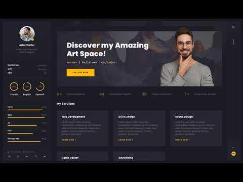 Arter - CV Resume Portfolio Web App Template