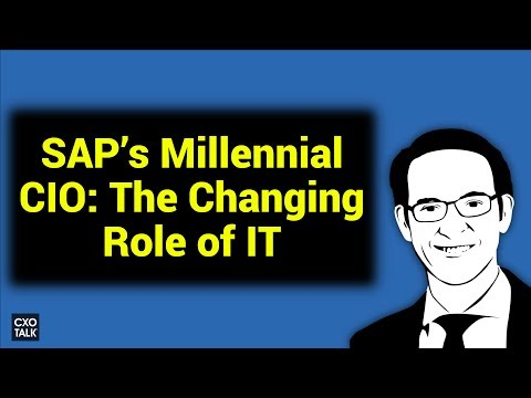 SAP's Millennial CIO: Digital Transformation, Cloud Computing, and User Experience  (#236)
