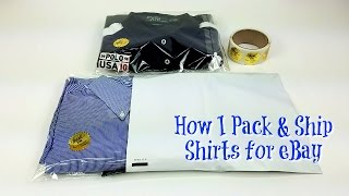 How to Pack and Ship Shirts for eBay