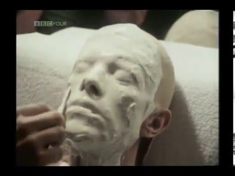 """David Bowie's Life Mask Creation for """"A Man Who Fell To Earth"""" circa 1975."""