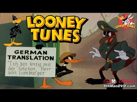 LOONEY TUNES (Looney Toons): Daffy The Commando (Daffy Duck) (1943) (Remastered) (HD 1080p)