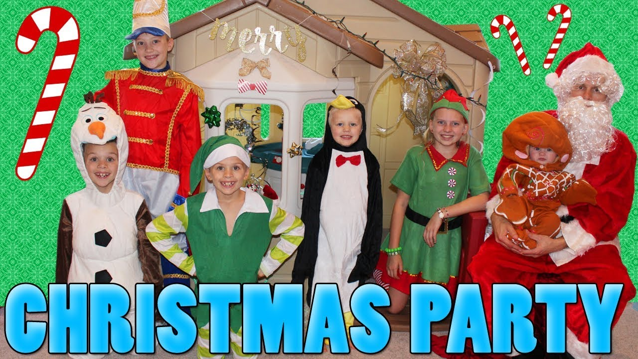 Kids Christmas Costume Party - YouTube