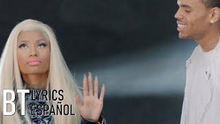 Nicki Minaj - Right By My Side ft. Chris Brown (Lyrics + Español) Video Official