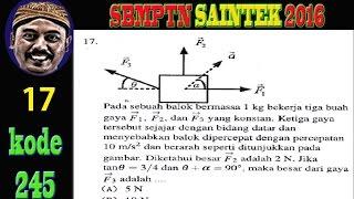analisa vektor, fisika,  SBMPTN 2016 SAINTEK kode 245 no 17
