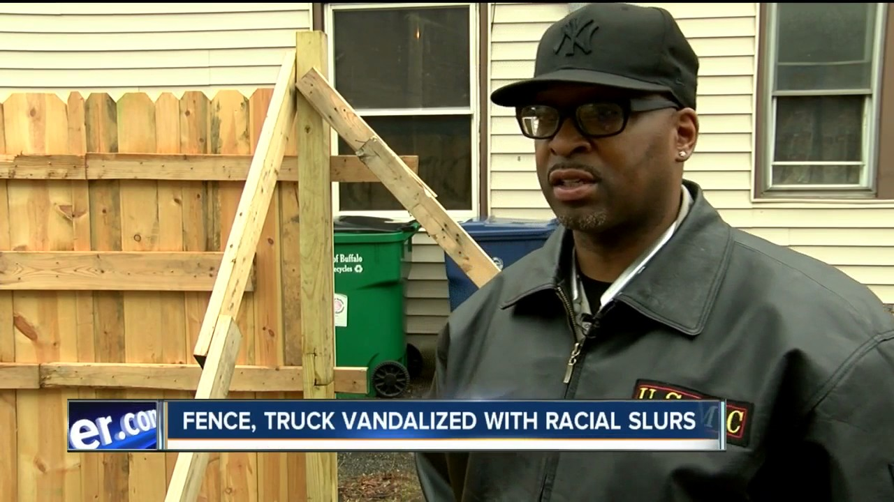 Buffalo man's property vandalized with racial slurs