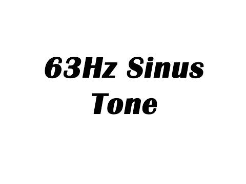 63Hz Sine Wave Test Tone (1 Hour)