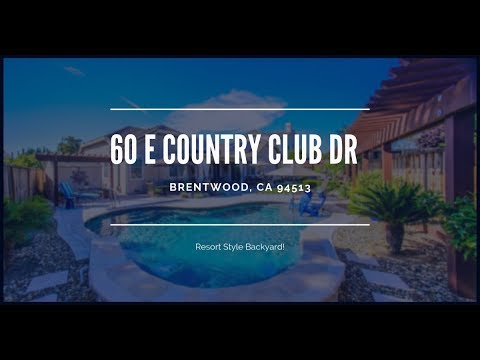 60 E Country Club Dr, Brentwood, CA 94513 - Alluring Single Story Home For Sale