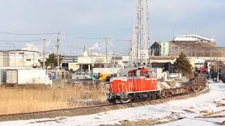 八戸臨海鉄道 DD16形12レ 北沼~八戸貨物 2020年1月6日