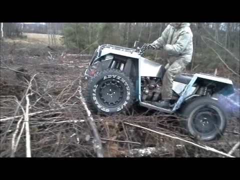 Diy Homemade Atv 1 6d 4x4 From Estonia Youtube