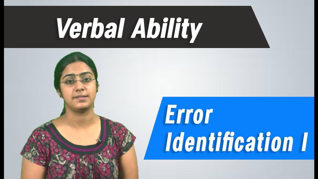 error identification
