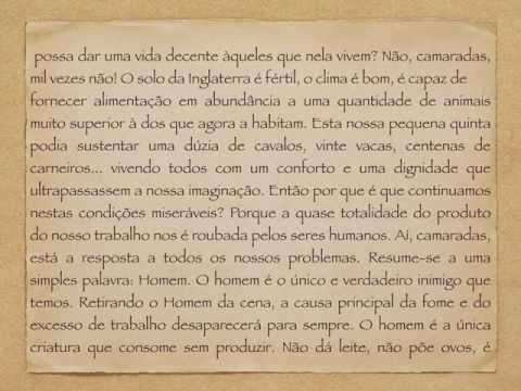 European Portuguese Audiobook Animal Farm  -O Triunfo dos Porcos  - Chapter 1