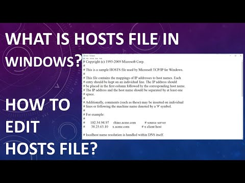 How To Edit Hosts File In Windows 10 | Edit Hosts File | Quick:What Is Hosts File?