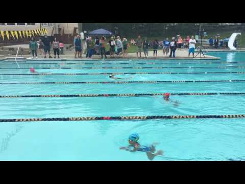 Michelle on the swimming team competition summer 2016 Tiger Sharks