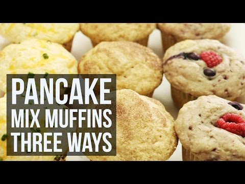 Pancake Mix Muffins Three Ways | Simple Customizable Muffin Recipe By Forkly