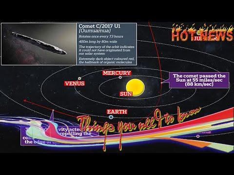 Breaking News One -  Oumuamua is an alien probe with broken engines