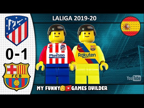 Atletico Madrid vs Barcelona 0-1 • LaLiga 2019/20 • Resumen 01/12 All Goal Highlights Lego Football