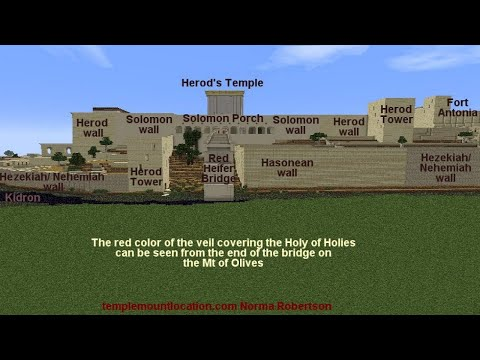 "Herod's Temple in 3D -pt 3 0f 5 ""Solomon's Porch and East Gate""  Norma Robertson pt 3 0f 5"
