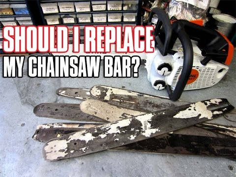 When a chainsaw bar needs to be replaced youtube diy donyboy73 chainsaw keyboard keysfo Image collections