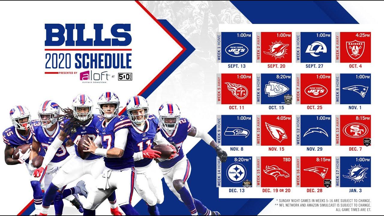 Bills Full 2020 Season Schedule Released!