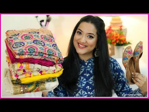 Amritsar Shopping Haul | Phulkari Suits Kurtis Juttis & More | Perkymegs