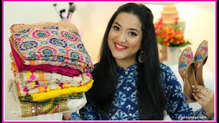 Amritsar Shopping Haul | Phulkari Suits Kurtis Juttis & More | Perkymegs