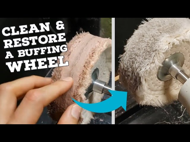 How To Restore a Buffing Wheel - Clean and remove caked up compound using a rake - KRVR Chef Knives