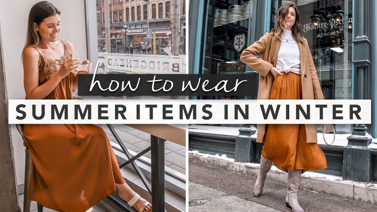 How to Winterize Summer Clothes and Outfit Ideas | by Erin Elizabeth