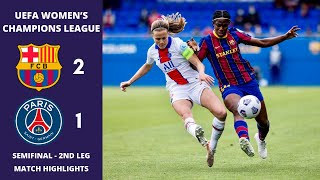 UWCL: Barcelona v Paris SG, 2nd Leg Match Highlights