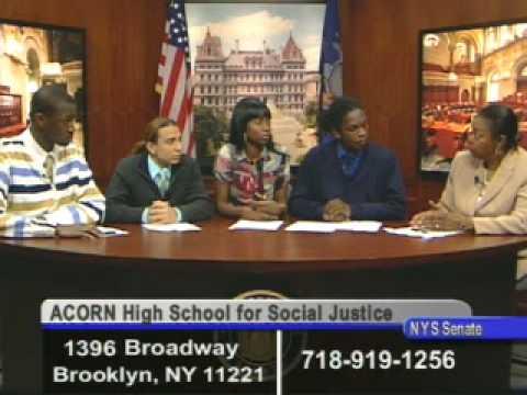 Senator Montgomery Legislative Report with guests from ACORN High School