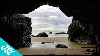 HIDDEN Sea Caves, a Beach WATERFALL and The Goonies Rock - Oregon Coastal ADVENTURE