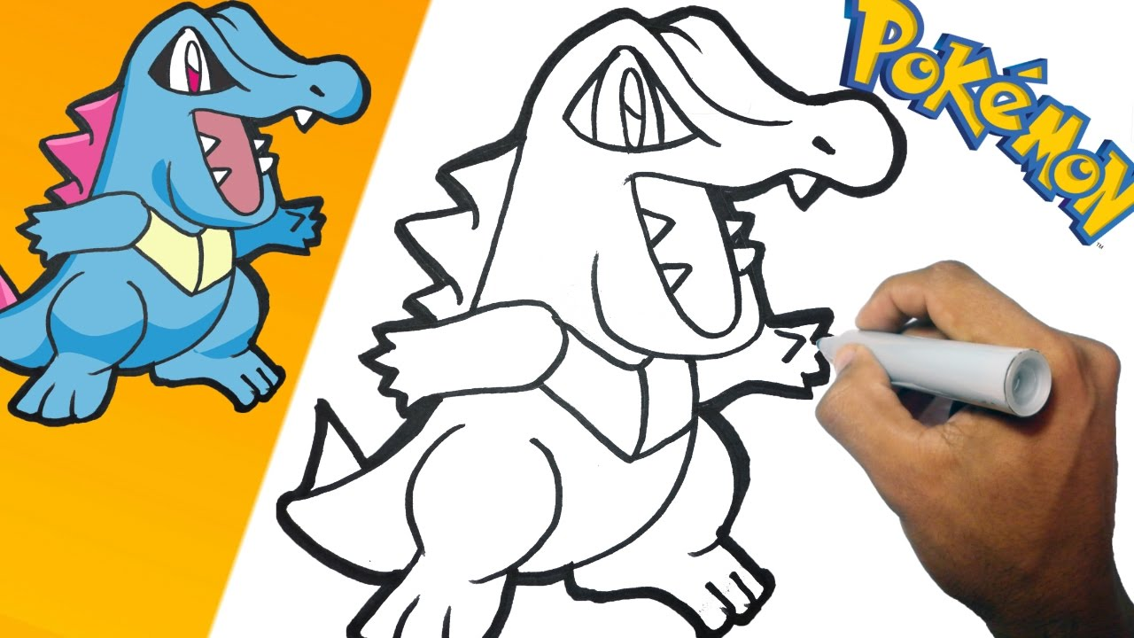 Uncategorized How To Draw Totodile como dibujar a totodile pokemon paso how to draw youtube