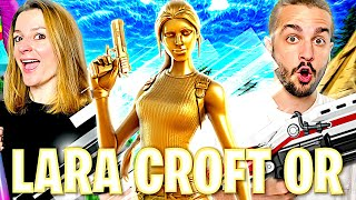 ON DEBLOQUE LE SKIN SECRET DE LARA CROFT GOLD ET ON FAIT TOP 1 ! FORTNITE DUO