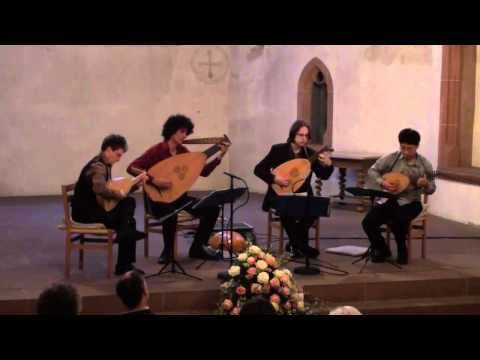 Delight in Disorder playing Nicholas Vallet: A Suite for four lutes