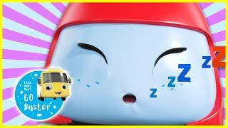 Buster And The Sleepy Train | GoBuster Official | Nursery Rhymes | Videos for Kids |  ABCs and 123s