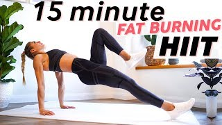 15 Minute Fat Burning HIIT Workout | Full Body at Home or Gym (No Equipment)