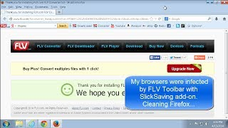 How to uninstall FLV toolbar with SlickSavings ads