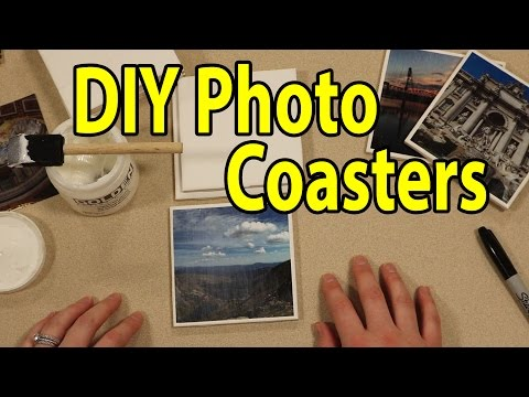DIY Photo Coasters Make A Great Gift Idea - From Goodwill