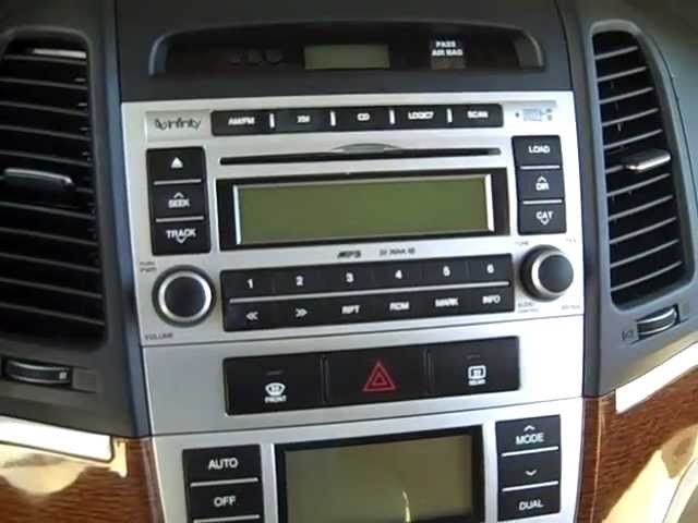 how to hyundai santa fe car stereo removal removal 2007 - 2012 replace  repair - youtube