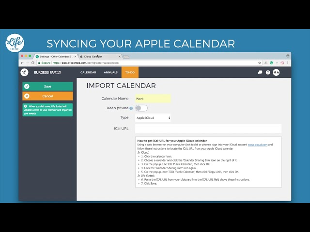 Syncing your Apple Calendar